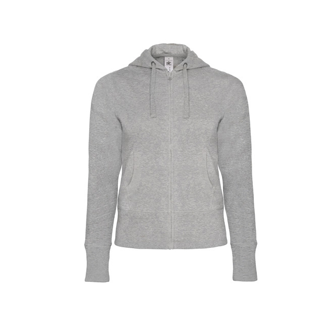 B&C Hooded Full Zip /women sieviešu jaka