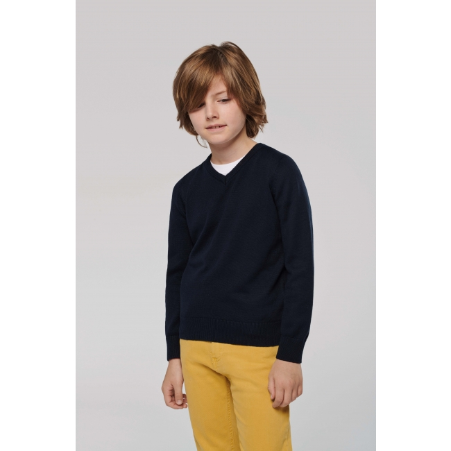 K9109 V-Neck bērnu džemperis