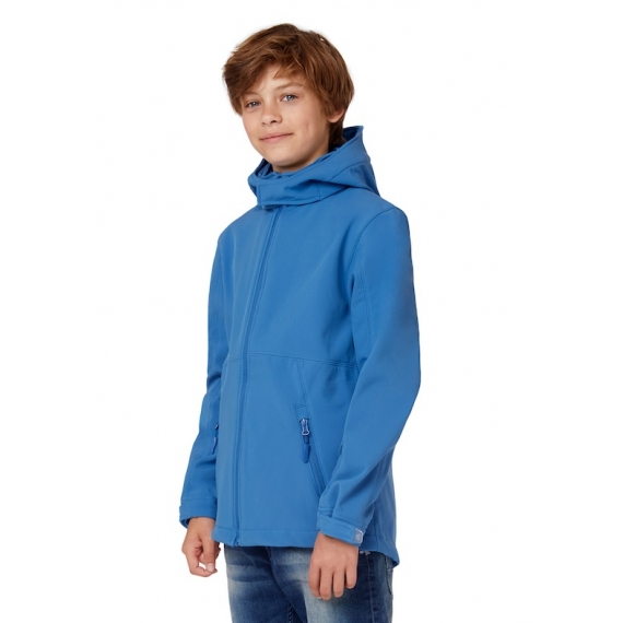B&C Hooded Softshell /kids bērnu jaka