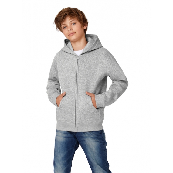 B&C Hooded Full Zip /kids bērnu jaka