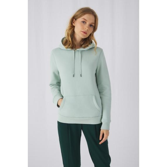 B&C QUEEN Hooded sieviešu džemperis