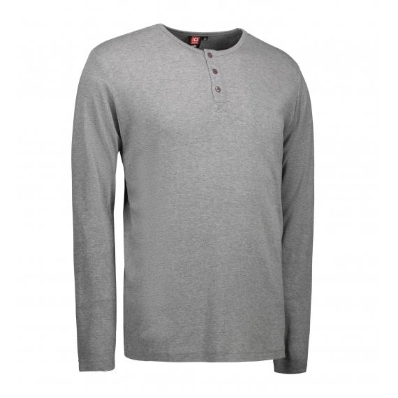 ID 0504 1x1 rib Granddad LSL vīriešu t-krekls