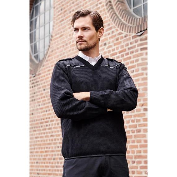 ID 0648 Uniform V-Neck adīts vīriešu svīteris