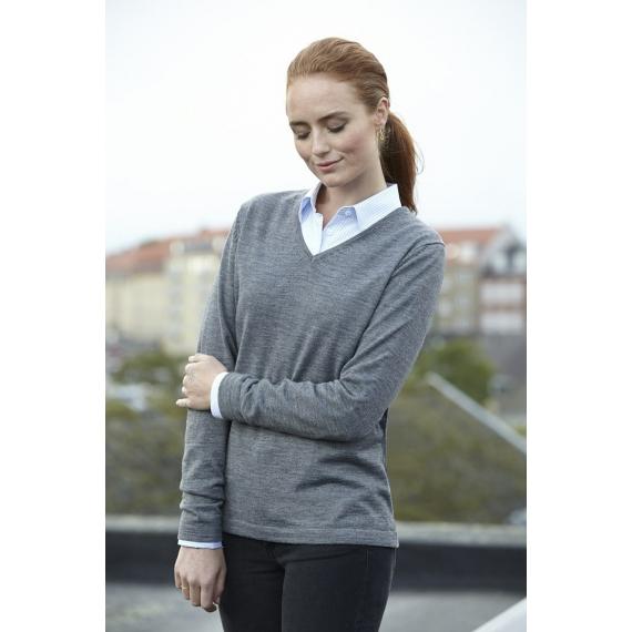 ID 0641 Business Pullover V-Neck adīts sieviešu svīteris