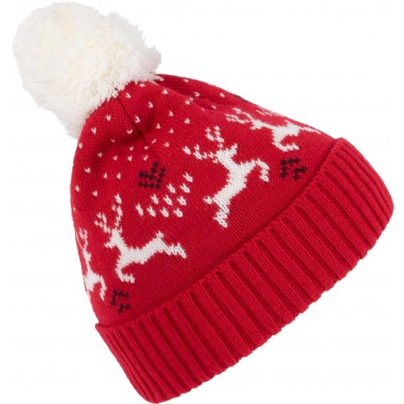KP512 Winter Reindeer adīta cepure