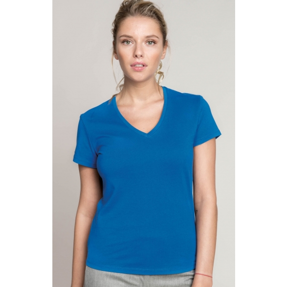 K381 V-neck sieviešu t-krekls