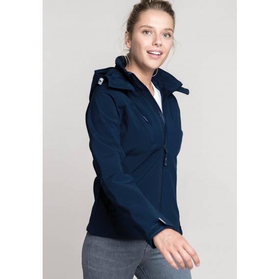K414 Hooded Softshell sieviešu jaka