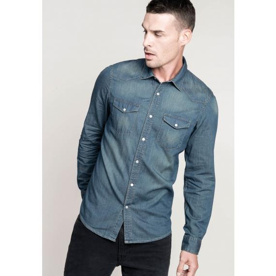 K519 Denim LSL vīriešu krekls