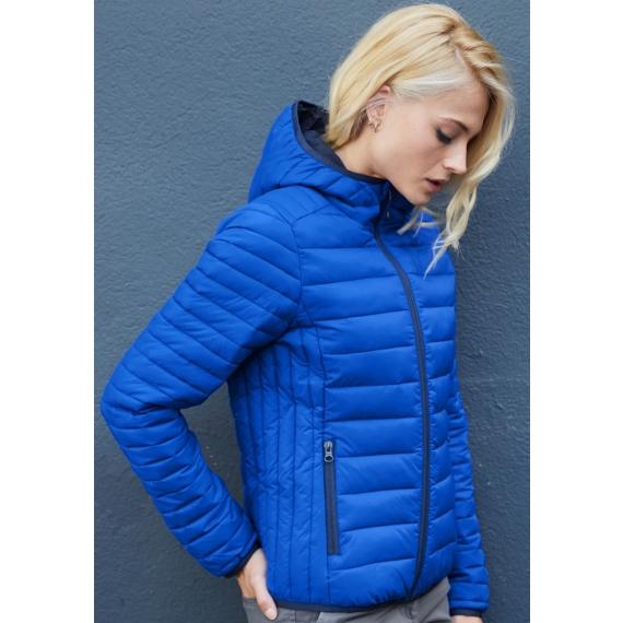 K6111 Hooded stepēta sieviešu jaka