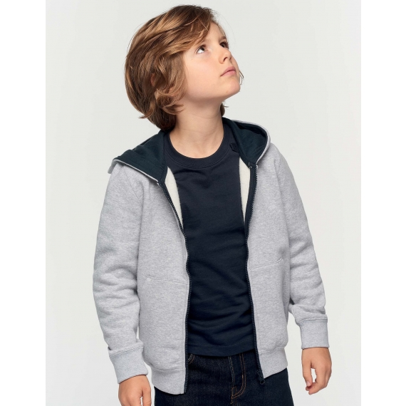 K486 Two-tone hooded bērnu jaka