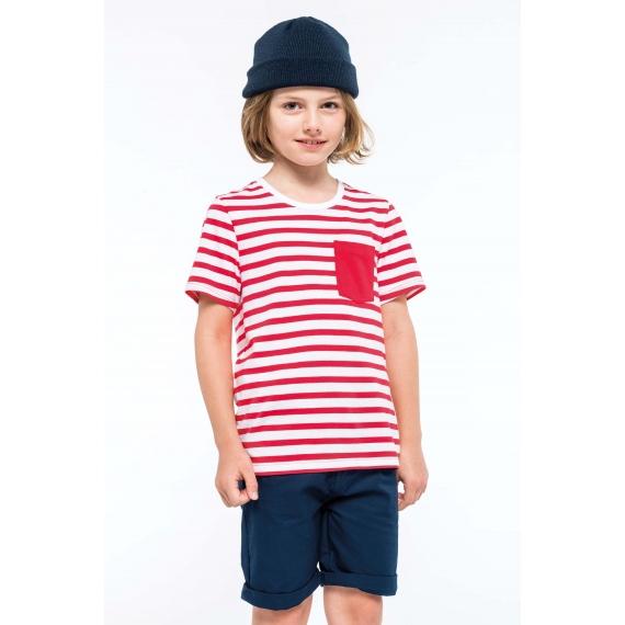K379 Striped Sailor bērnu t-krekls