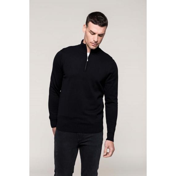 K970 Zip Neck vīriešu džemperis