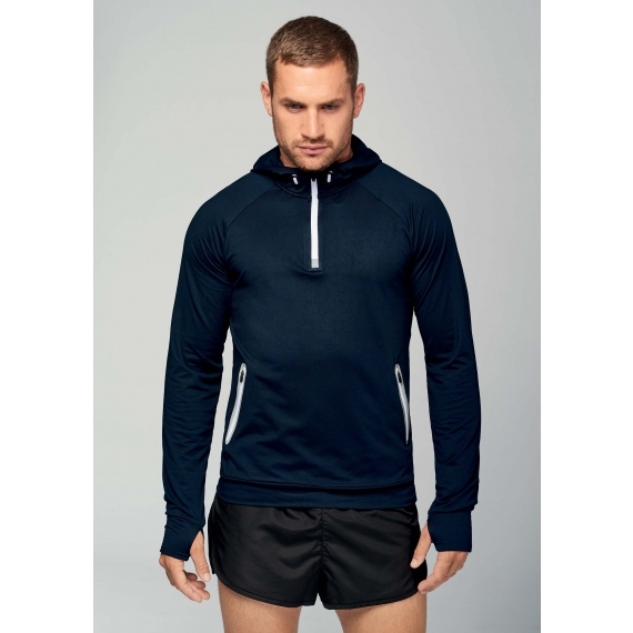 PA360 Zip Neck Hooded unisex svīteris