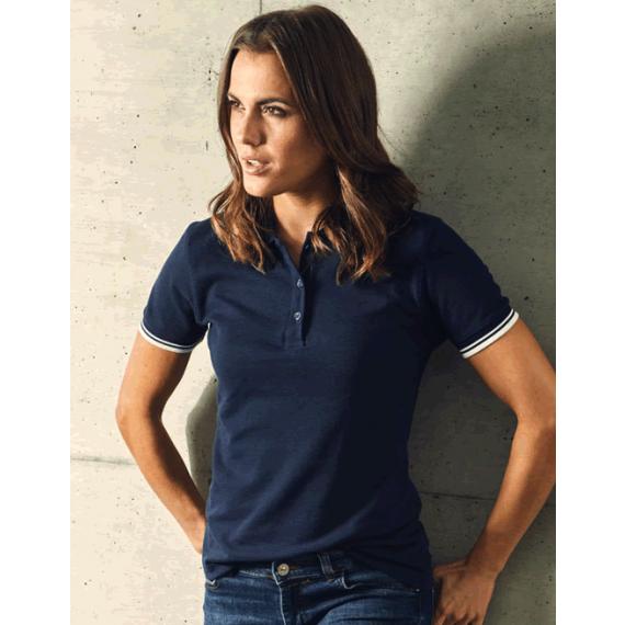 PD 4910 Contrast Stripes sieviešu polo krekls
