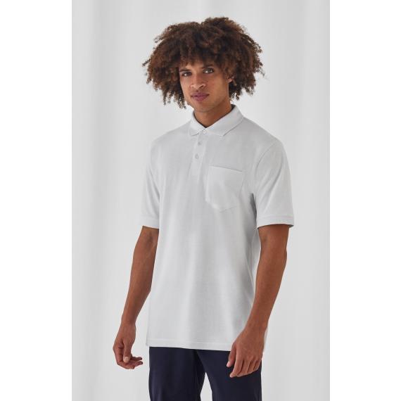 B&C Safran Pocket unisex polo krekls