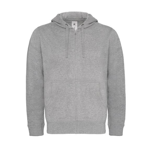B&C Hooded Full Zip /men vīriešu jaka