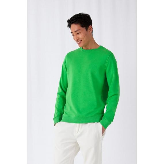 B&C Organic Crew Neck vīriešu džemperis