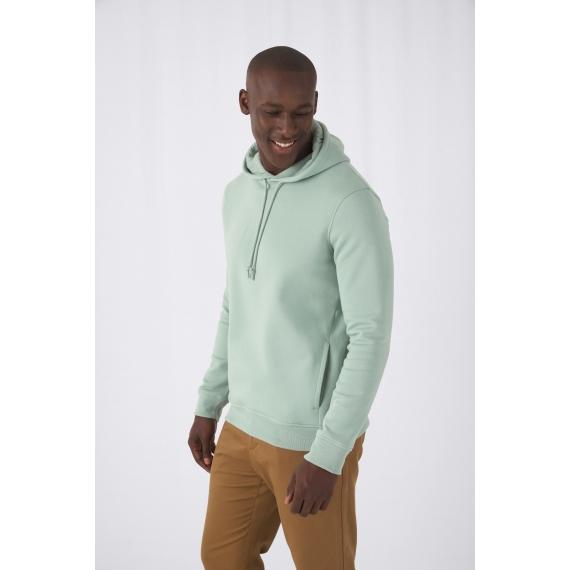B&C Organic Hooded vīriešu džemperis