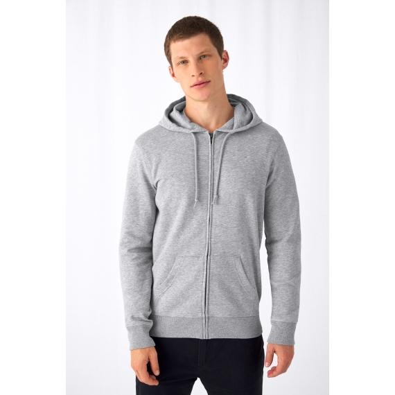 B&C Organic Zipped Hood vīriešu jaka