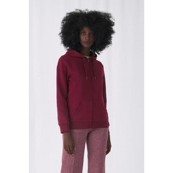 B&C QUEEN Zipped Hood sieviešu jaka