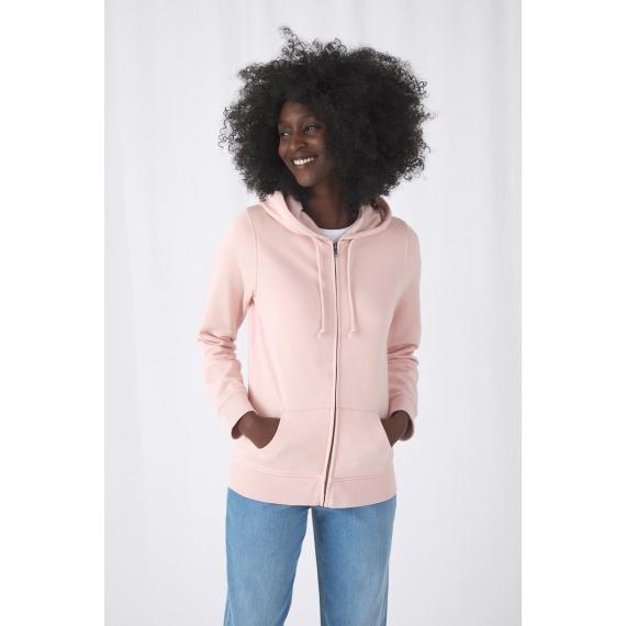 B&C Organic Zipped Hood /women sieviešu jaka