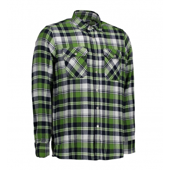 ID 0204 Green Leaf Press studs vīriešu krekls