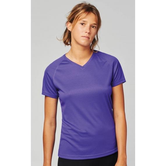 PA477 V-neck sieviešu t-krekls sportam