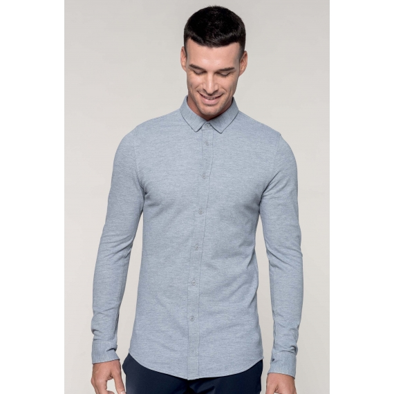 K508 Pique knit LSL vīriešu krekls