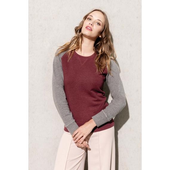 K492 Two-Tone Organic sieviešu džemperis