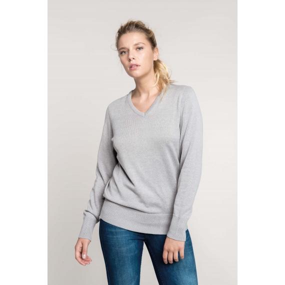 K966 V-neck sieviešu džemperis