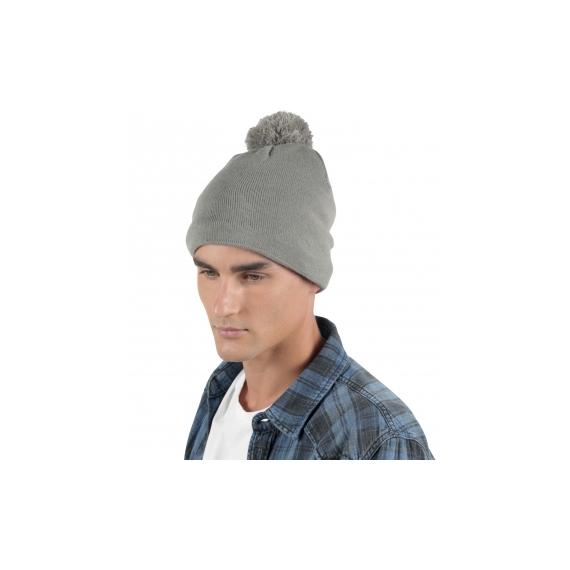 KP529 Adīta unisex cepure ar bumbuli