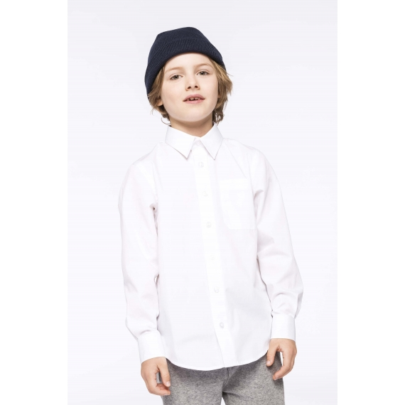 K521 Poplin LSL bērmu krekls