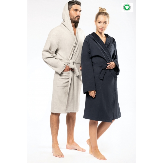 K140 Organic Hooded halāts