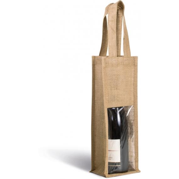 KI0267 Jute Bottle maisiņš