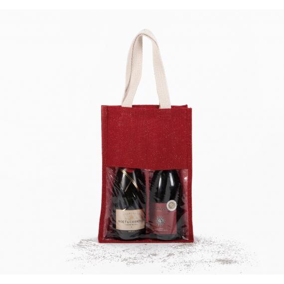 KI0268 Jute Bottle maisiņš