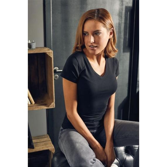 PD 3086 Slim Fit V-Neck-T sieviešu t-krekls