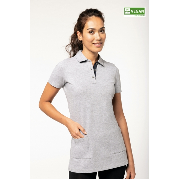 WK209 Longline SS sieviešu polo krekls